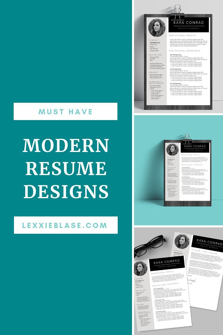 Modern Resume Template For The Career Woman Professional Resume