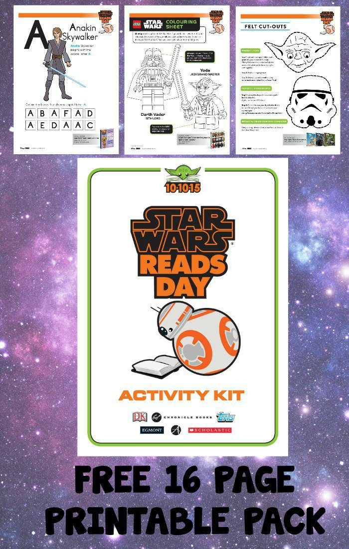 Amazing free printable pack of 16 educational Star Wars activity sheets for kids, with writing prompts, drawing prompts, word puzzles, quizzes, colouring and loads more.