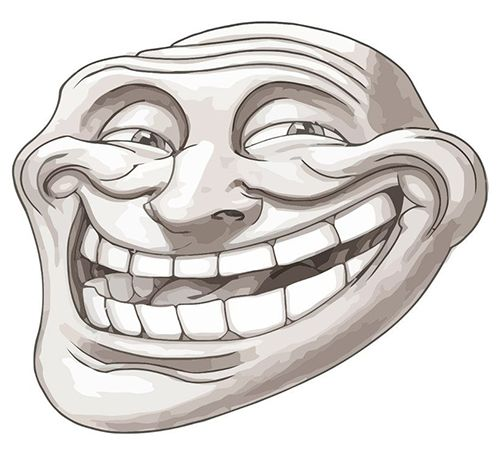 Troll Face Emoticon - Facebook Symbols and Chat Emoticons