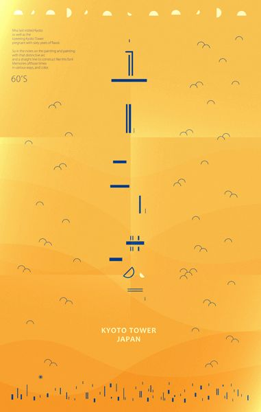 #motion 京都塔 KYOTO TOWER / VISUAL & TYPOGRAPHY & MOTION on Behance