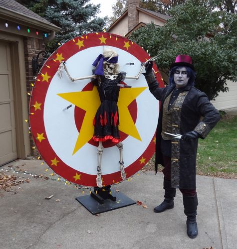 Knife thrower wheel on Halloween Forum