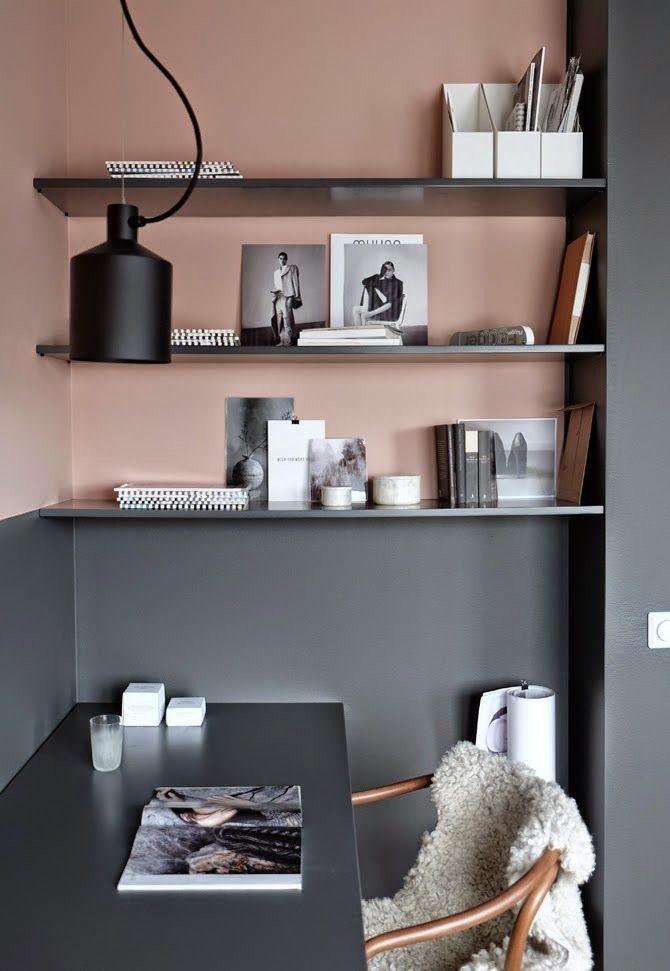 Déco en gris et rose Stil Inspiration via Nat et nature