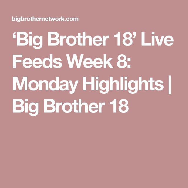 'Big Brother 18' Live Feeds Week 8: Monday Highlights | Big Brother 18