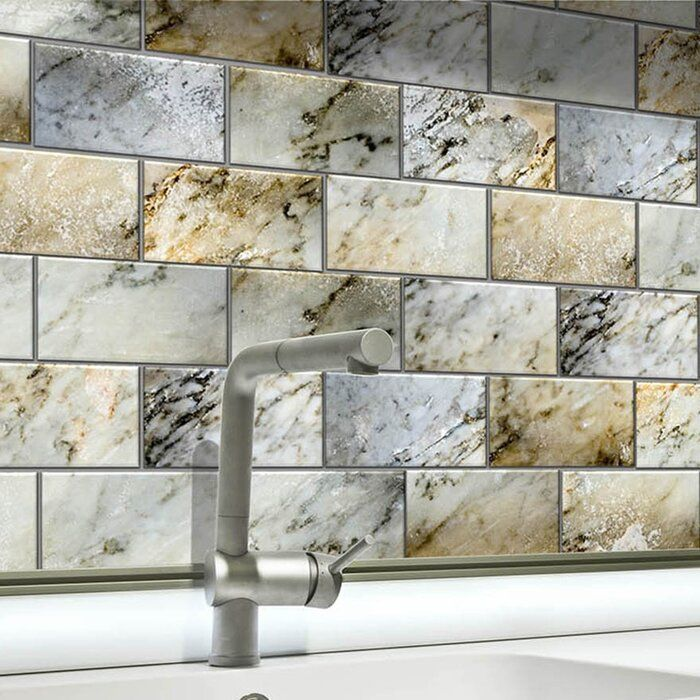 6 X 3 Glass Peel And Stick Subway Tile Kitchen Backsplash Peel