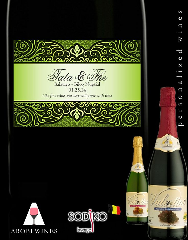 Unique Wedding Gifts Manila : NON ALCOHOLIC WINE WEDDING SOUVENIR PERSONALIZED WINE MANILA WEDDING ...