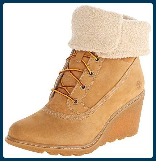 Timberland Amston FTW_Amston Roll Top, Damen Kurzschaft Stiefel, Braun (WHEAT), 38.5 EU - Stiefel für frauen (*Partner-Link)
