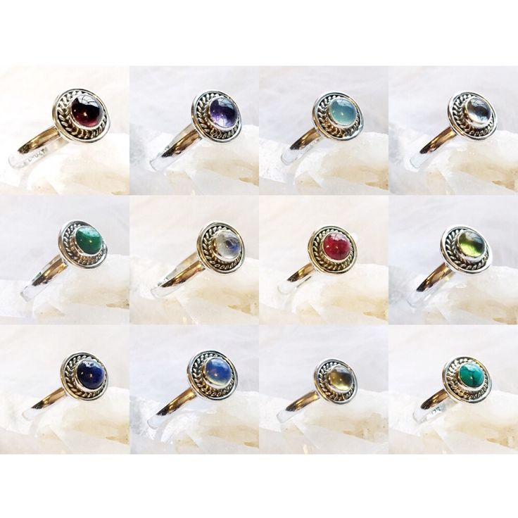 Sterling Silver Birthstone Rings – Druzy Dreams