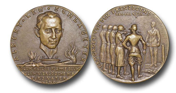 KG6 - Execution of Albert Leo Schlageter, Cast Bronze Medal, 77.00g., 61mm, by Karl Goetz