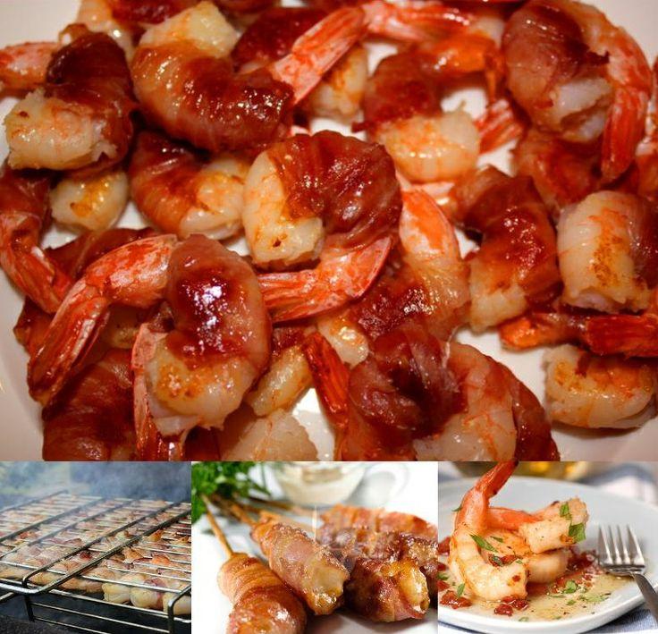 Креветки в беконе или чудный летний перекус.  Это блюдо может быть закуской для большой компании. Или достаточно легким и в тоже время питательным блюдом, дополненным свежими овощами, свежевыжатым соком. Главное, что блюдо готовится быстро, просто и оставляет очень вкусные воспоминания.    Барбекю и гриль в наличии и на заказ: www.saga.ru/barbekyu  #рецепты, #барбекю