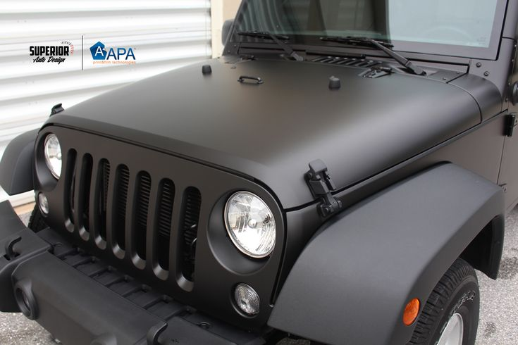 JEEP WRANGLER CAR WRAP VINYL APA MATTE BLACK - SUPERIOR AUTO ...