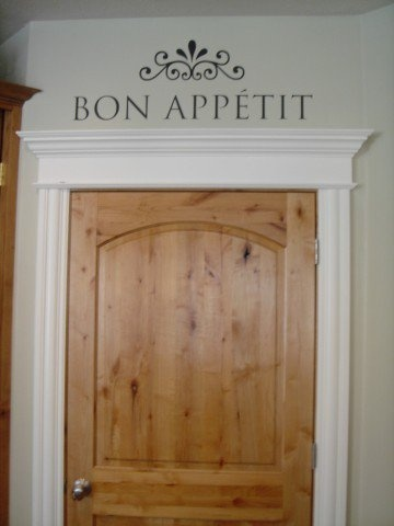 Thick crown molding above the pantry door. & 46 best DIY Home Improvement - Mouldings u0026 Trim images on ... pezcame.com