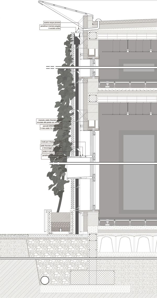 Project for a system of green facades by Emanuele Faccini, via Behance