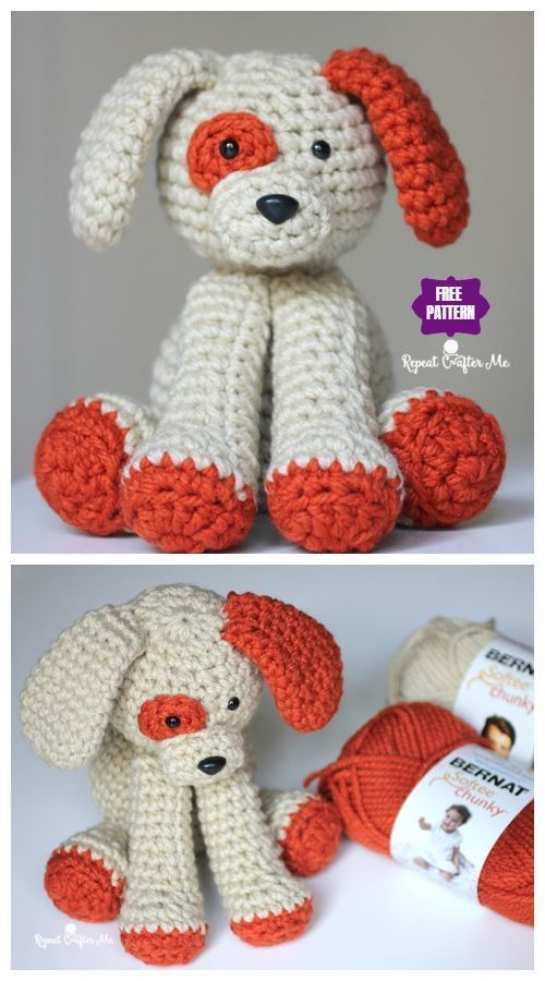 Amigurumi Plush Puppy Dog Toy Free Crochet Pattern Crochet Dog