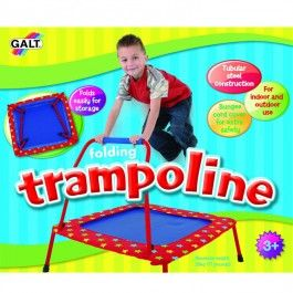 Kids Folding Trampoline - Educational Toys Planet. Great gift for 3 years old child. Galt Folding Trampoline will encourage kids to exercise and keep fit indoors or outside! Develops Skills - physical development, active play. #toys #learning #educational #gifts #child https://www.educationaltoysplanet.com/folding-trampoline.html