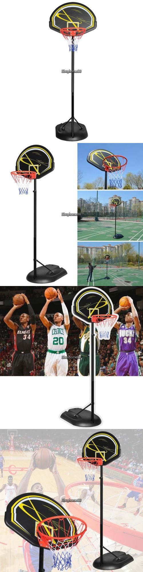 Rims and Nets 158962: New Adult Youth Indoor Outdoor Portable Adjustable Basketball System Ehe801 -> BUY IT NOW ONLY: $89.13 on eBay!