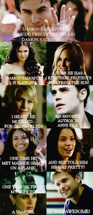 TVD LOL mimicking Mean girls When They Were talking about Regina LMFAO