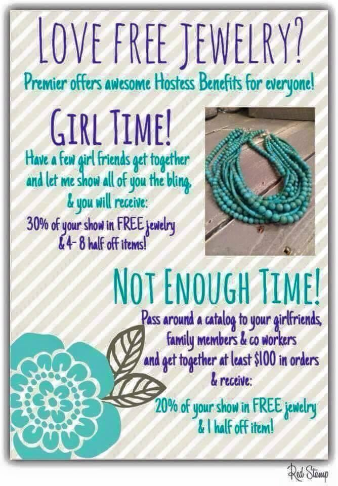Who doesn't like free jewelry?!!! Visit my site at krisumbach.mypremierdesigns.com