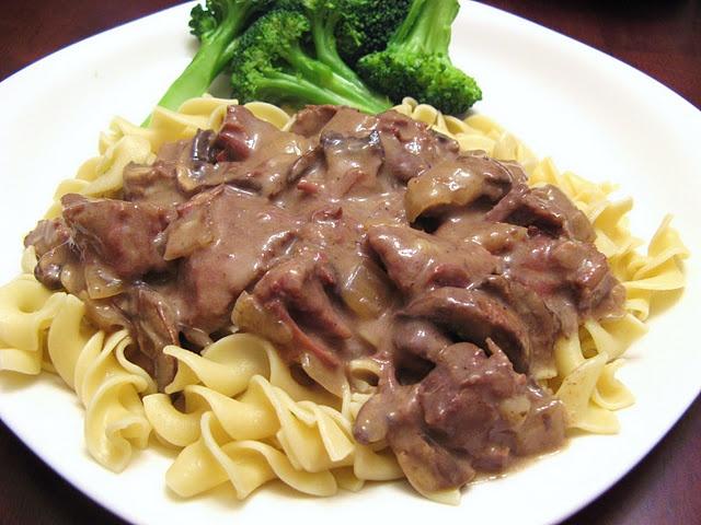 slow cooker beef stroganoff | Cooking | Pinterest