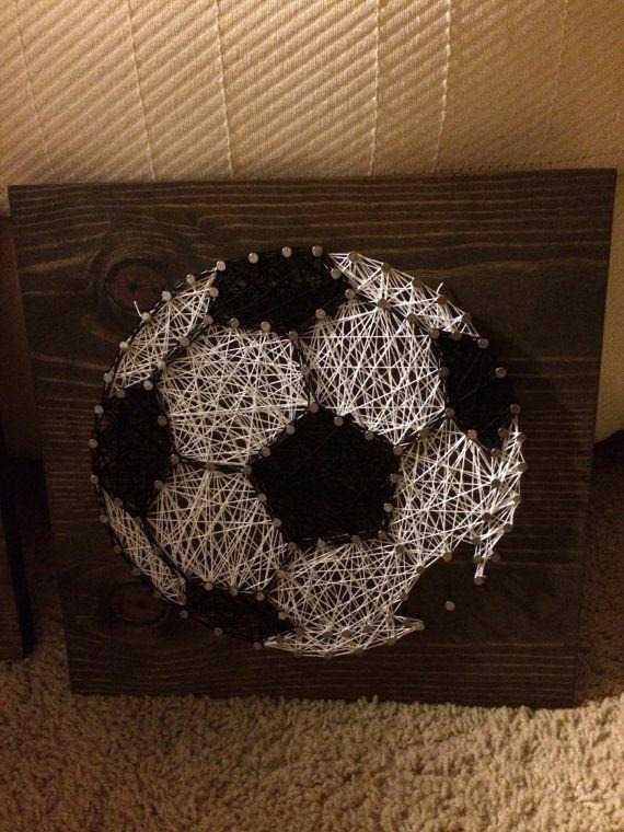 CUSTOM Sports Soccer Ball String Art by KiwiStrings on Etsy