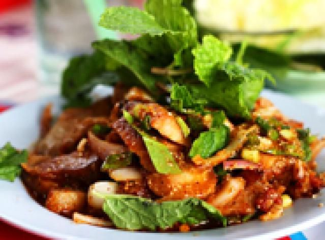 Thai Waterfall Eggplant Salad (Nam Tok)