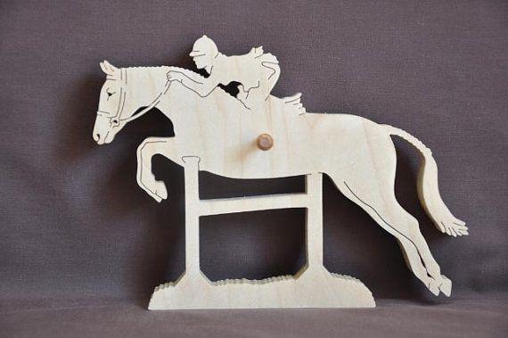 English Jumping Horse Show Ribbon Display Wood Wall by Puzzimals, $22.99