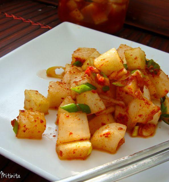 Mitinita: Kkak doo gi - Kimchi cu ridiche alba - Radish Kimchi