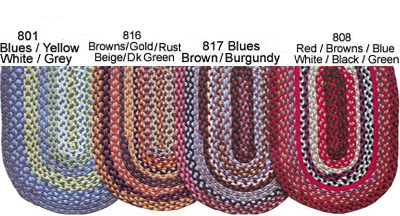 color samples for braiding