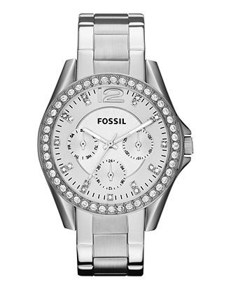 Fossil Watch, Women's Riley Stainless Steel Bracelet 38mm ES3202 - All Watches - Jewelry & Watches - Macy's
