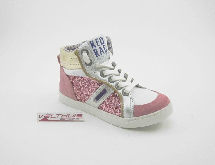 RED RAG 4621 Meisjes Sneaker kleur Roze materiaal Leer bestel je online via de webshop: velthuisschoenen.nl