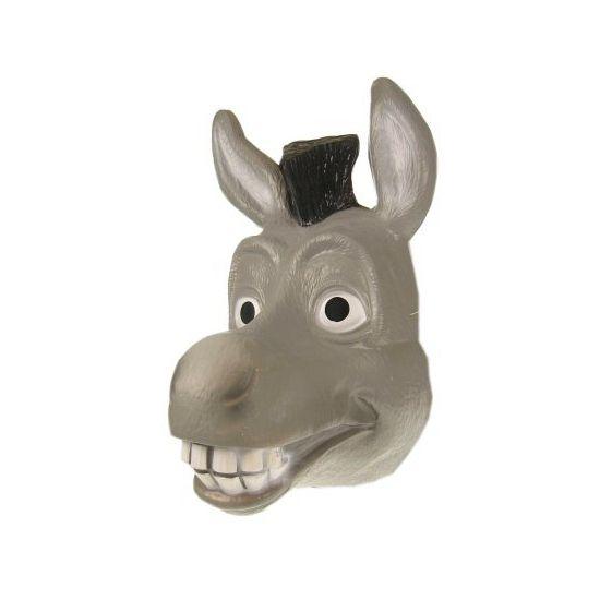 Grijs ezel masker Donkey. Plastic ezels masker naar Donkey uit de Shrek films.