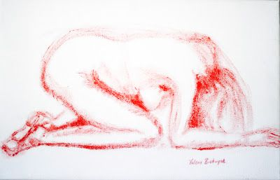 The Art of Valerie Biebuyck: Paintings & Sketches of the Human Form Washing her Hair in a Small Basin