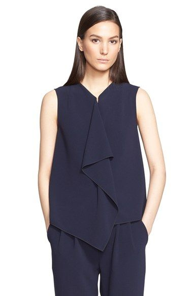 Max Mara 'Giusy' Sleeveless Cady Blouse available at #Nordstrom