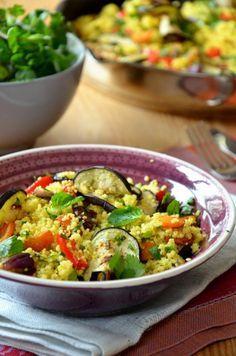 Kuszkusz sült zöldségekkel