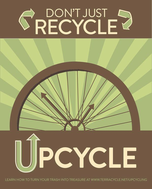 upcycle: the process of converting waste materials or useless products into new materials or products of better quality or a higher environmental value