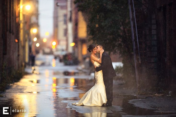 Rain on your wedding day can make for great photos!