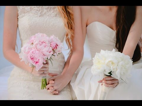 La romántica boda de Jane y Claudia - YouTube lesbian wedding