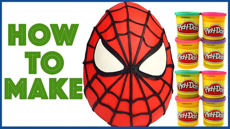 How to Make Giant Spiderman Play Doh Surprise Egg Play Dough - YouTube