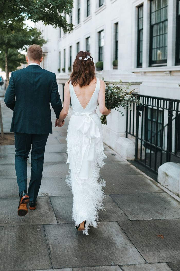 Town Hall Hotel Wedding and Hawksmoor London by Miss Gen Photography   Bride's Dress Charlie Brear   Flowers by The Flower Bird