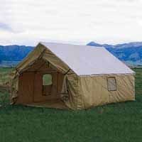 Montana Canvas Wall Tent in Montana Blend -- Canvas Roof with Tan Relite Walls