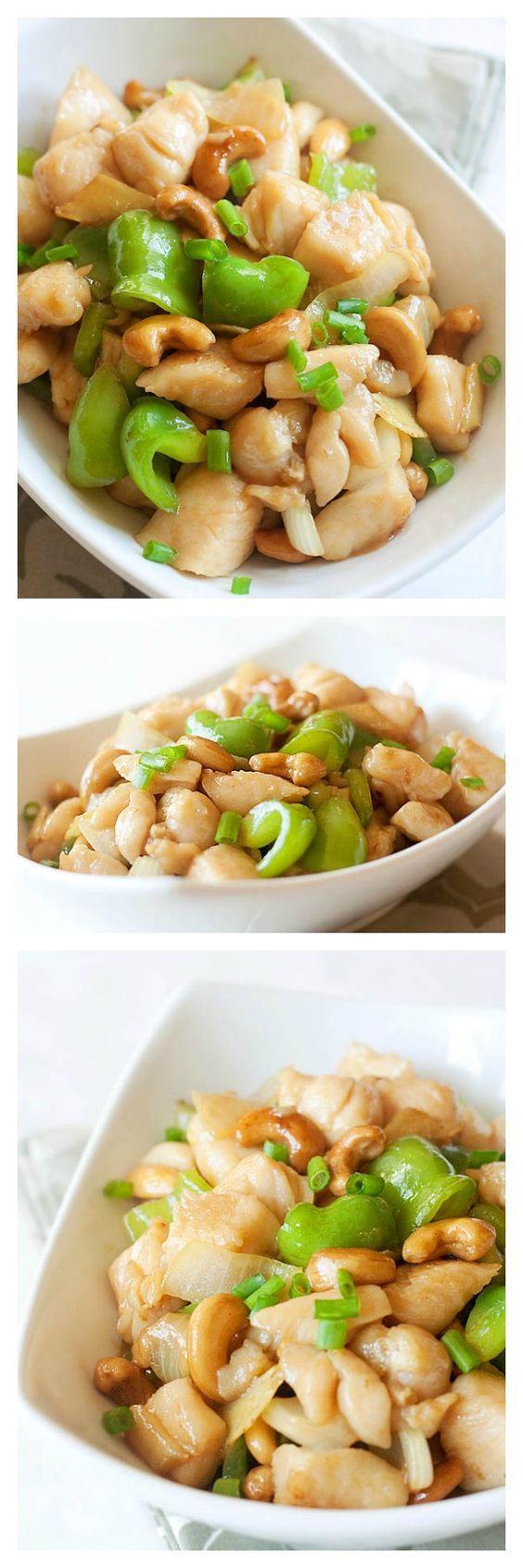 Crazy delicious and super easy cashew chicken recipe.
