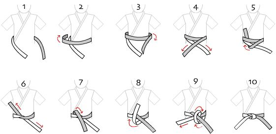 how to tie a taekwondo belt i at this gt gt right goes