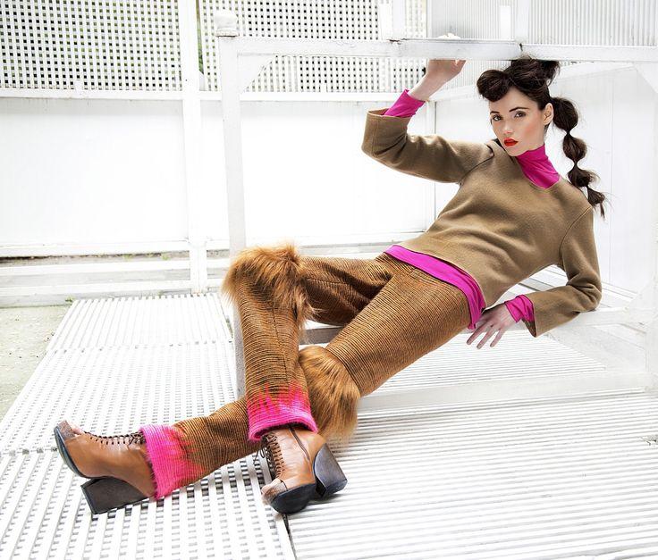 Haute couture wonderful fur pants made with unique by NATIPUREIDEA