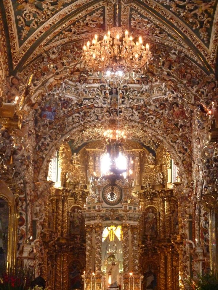 Templo de Santa María Tonantzintla, San Andrés Cholula, Puebla, México