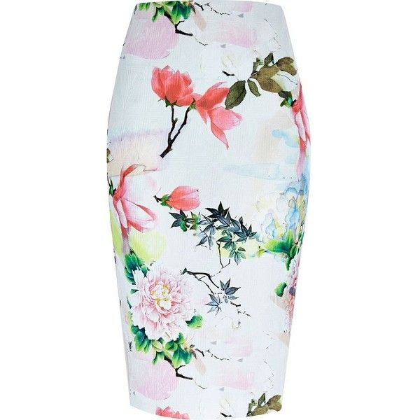 17 best ideas about floral print skirt on