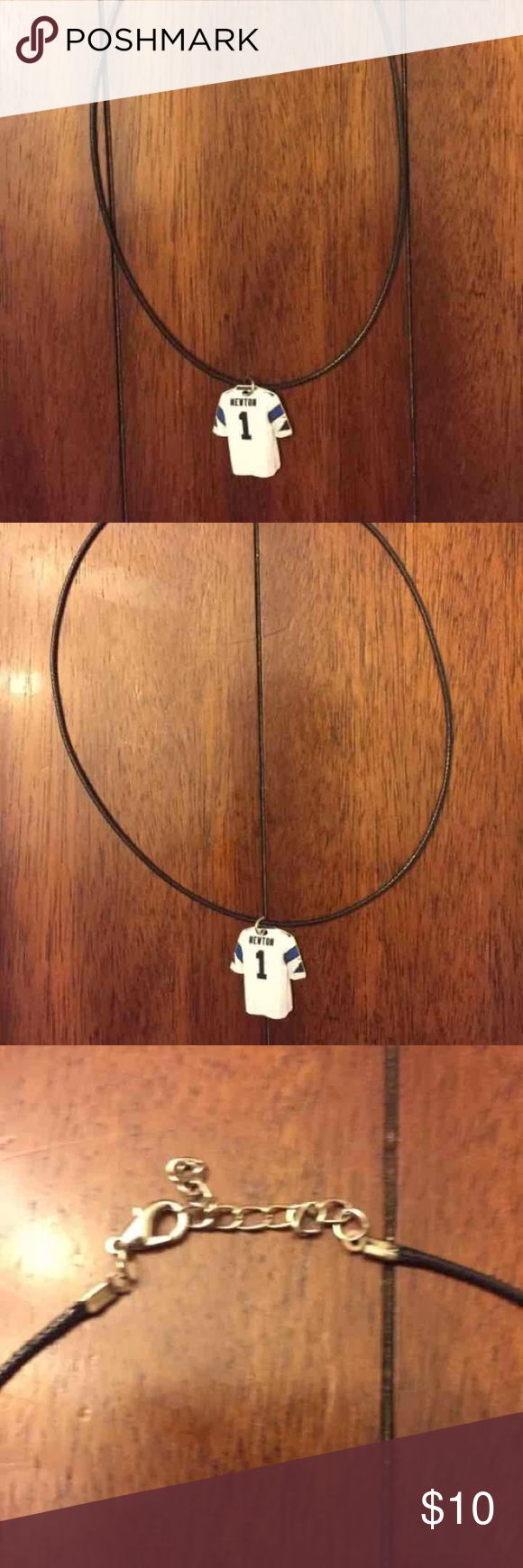 Cam Newton Panthers Necklace NFL CUTE!! Cam newton necklace, handmade.  Cam Newton Panthers Necklace NFL Football.  CUTE!!! Jewelry Necklaces
