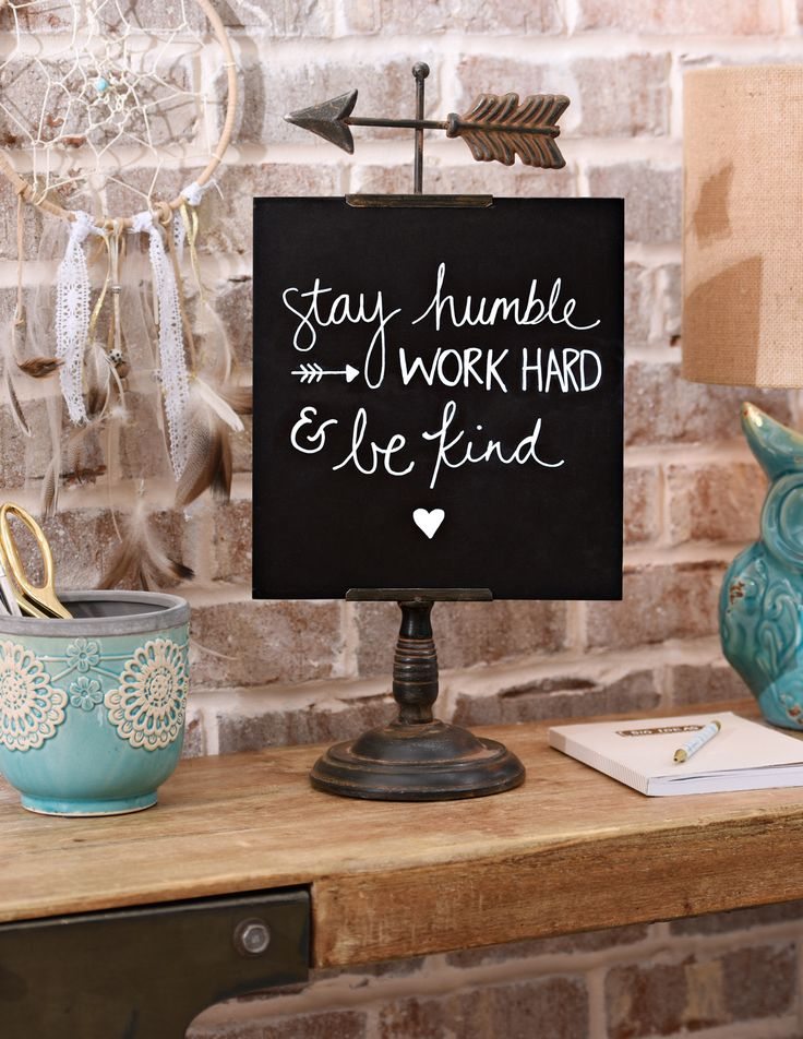 Keep your free spirit alive and on display with the trendy Distressed Arrow Chalkboard! Leave sweet and encouraging messages to your family and guests or use it as your own personal reminder message. Add it to your home now for $16.97!
