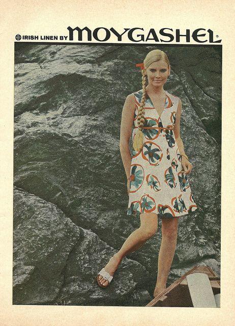 Cute dress, great side braid. #vintage #1960s #fashion #ads