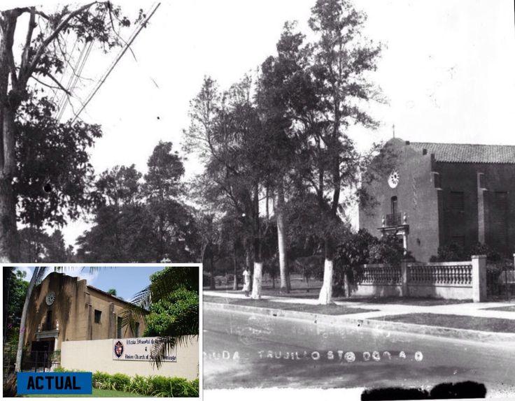 1940-Av. Independencia esquina Danae,Santo Domingo. En primer plano la Iglesia Episcopal Dominicana.