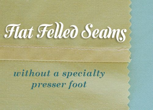 What is a flat felled seam?    A flat felled seam is basically an overlapping seam that's sewn flat. It's used frequently in menswear because it's extremely durable and sturdy, in addition to providing a neat finish. If you're wearing jeans, take a look at the seams. They are almost certainly flat felled.