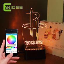 USB Bluetooth Speaker NBA Rockets Basketball NightLight Led Lampara Home Decor Smart APP Controled 3D Music Light Table Lamp //Price: $US $37.45 & FREE Shipping //     #festive #party #birthdayparty #christmas #wedding decoration #event